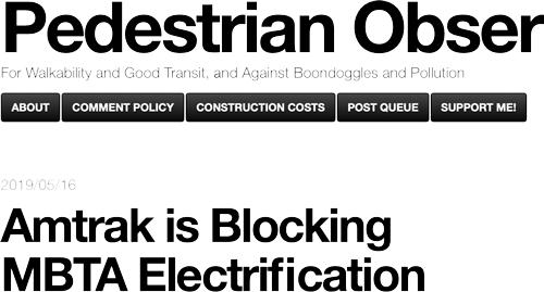 "Screen capture of the blog "" Pedestrian Observations"""