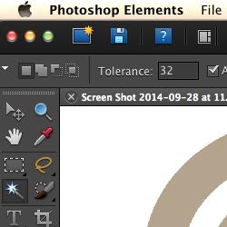 Photoshop Elements 9 on a retina screen