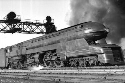 Pennsylvania Railroad Steam 1 Locomotive designed by Raymond Loewy