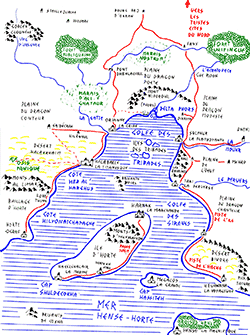 Carte Rêve de Dragon, Mers du Sud