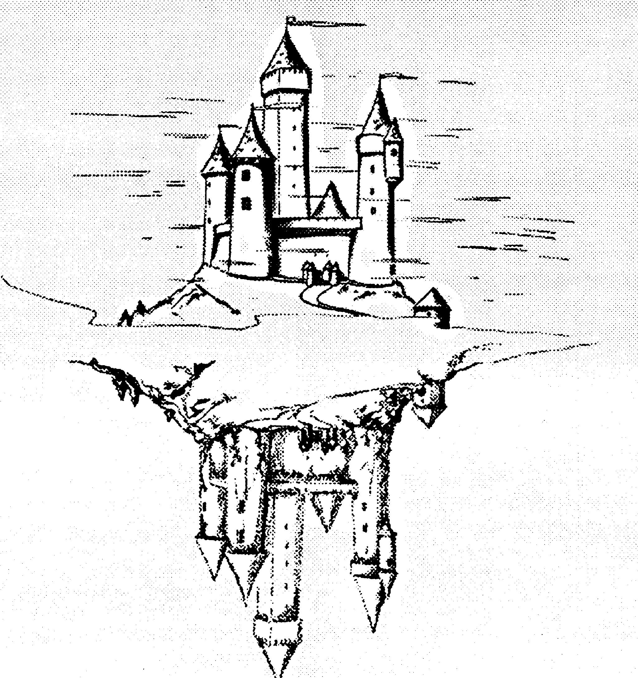 Un château se reflétant dans un lac.