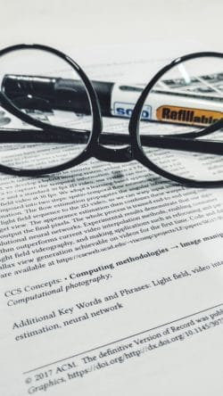 Research Paper with Glasses