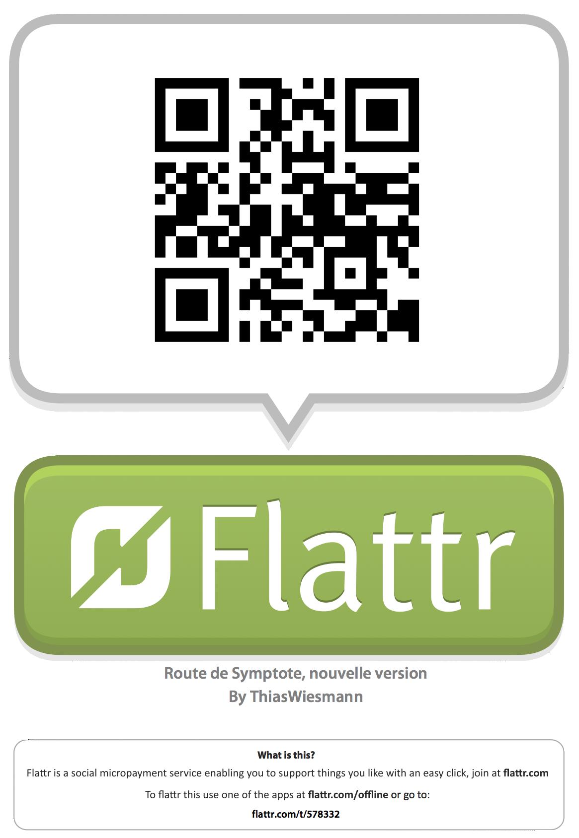 Code QR Flattr pour le Scénario La Route de Symptote