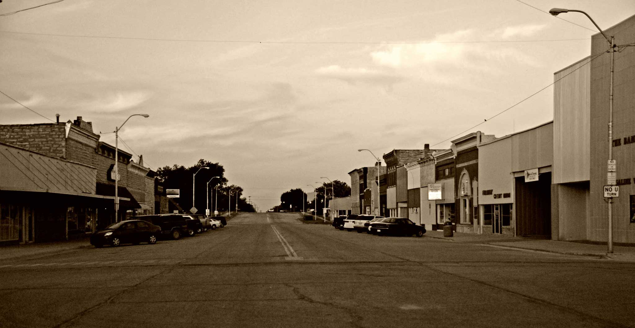 Main Street of a small US town