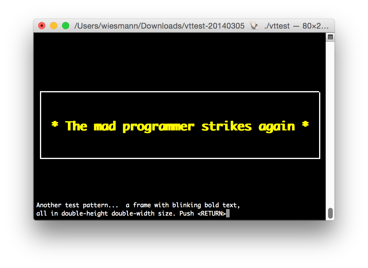 The mad programmer strikes again