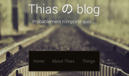 Title of this blog as seen using the Sixteen theme