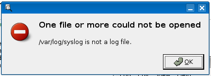 /var/log/syslog is not a log