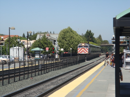 Train Arriving at the Mountain View Station