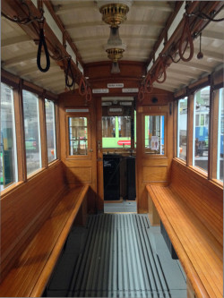 View from inside an old Tramway Carriage