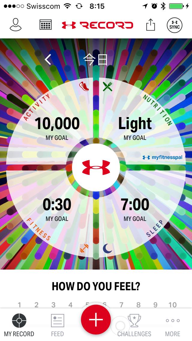 Start Screen of UnderArmour's Record App