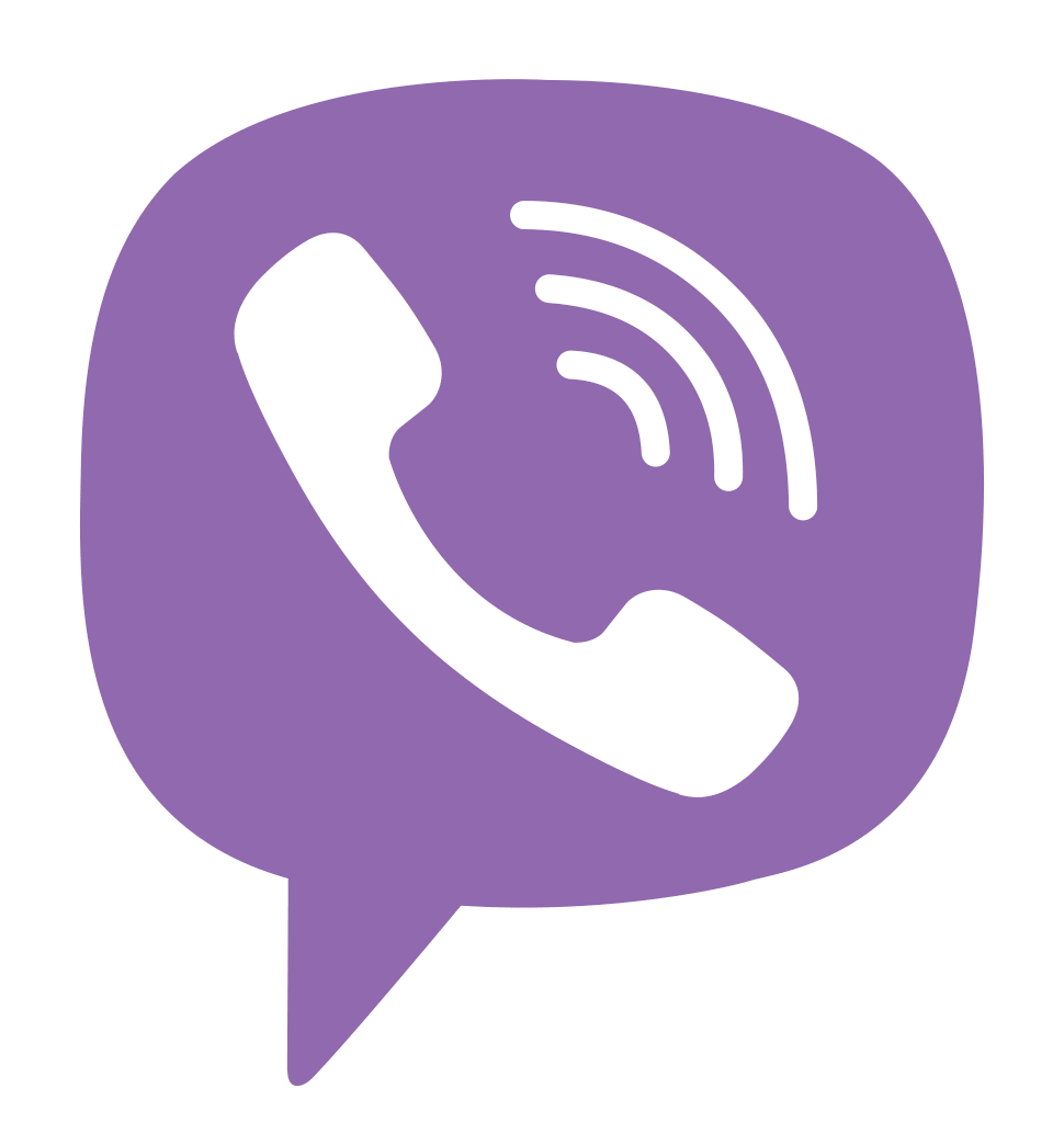 Viber Logo – A white phone receiver (📞) on a purple background