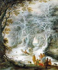 Gysbrecht Lytens, scène hivernale avec gitans, première moitié du 17ème siècle Kunsthistorisches Museum Wien, Gemäldegalerie