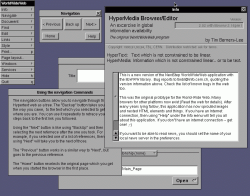 Screenshot of the World Wide Web (Nexus) Web Browser in use