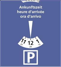 Disque de stationnement de zone bleue