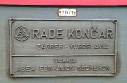 Rade Konča Zagreb  Yugoslavia  Licentia ASEA ELIN–Union Sécheron